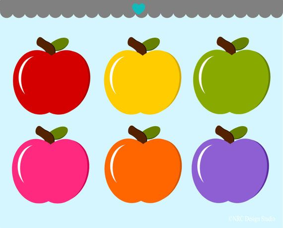 Colouful clipart apple #7