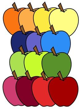 Apple clipart colorful CLIPART 190 * color on