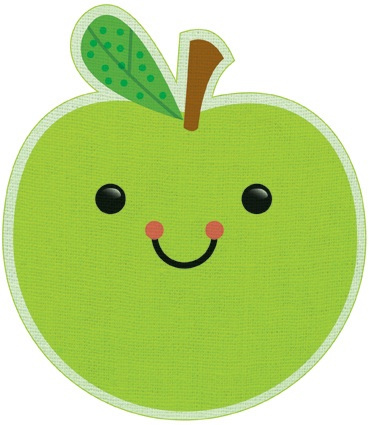 Apple clipart cute green Cute GREEN APPLE Art Images