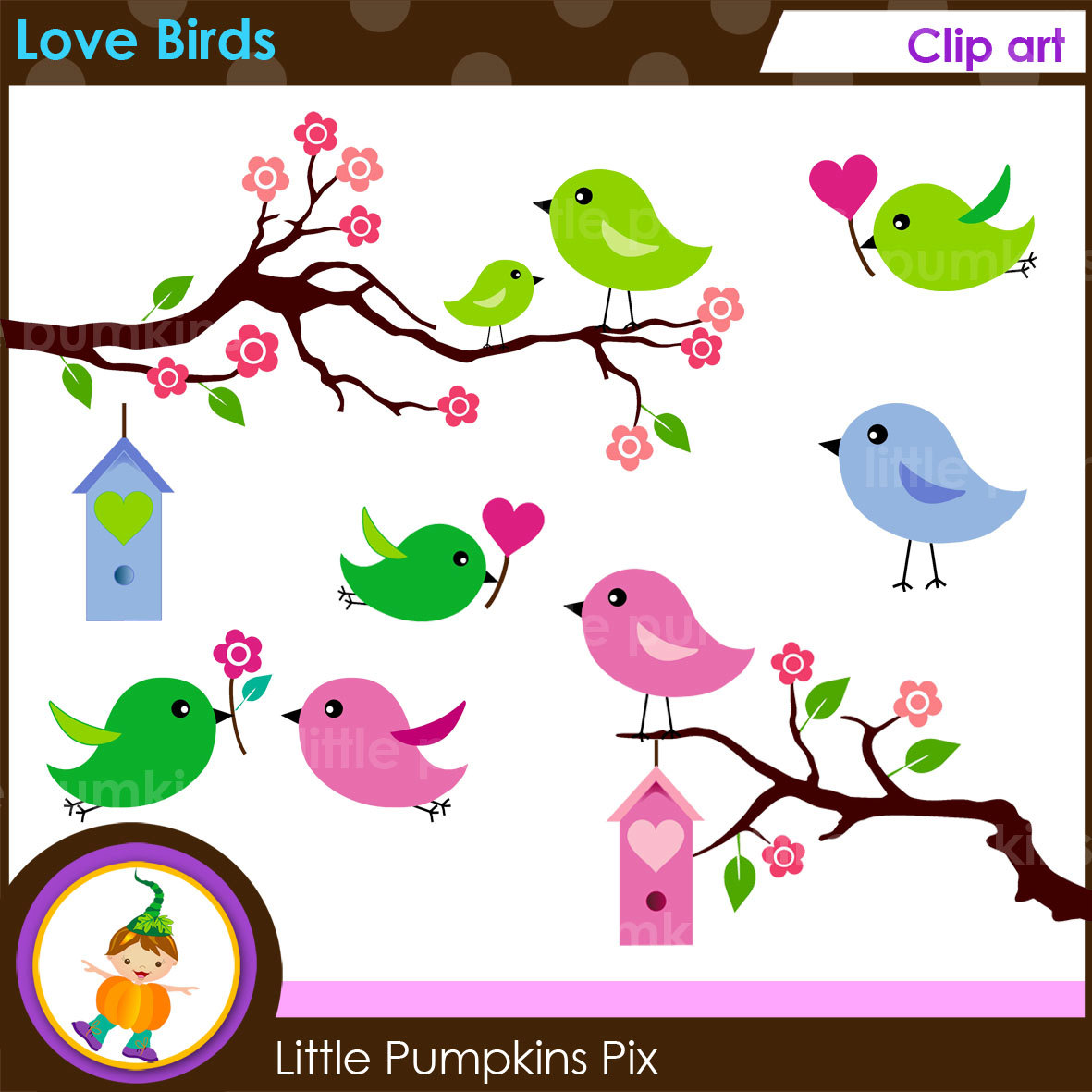 Apple clipart cute green Little LOVE Graphics Cute BIRDS