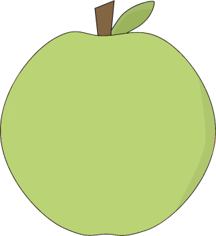 Apple clipart cute green Image Green Art Apple Apple