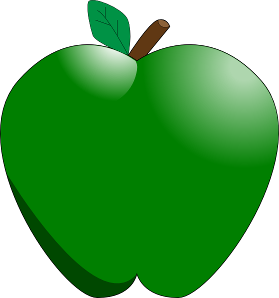 Apple clipart cute green Frog Green Apple Cliparts Cute