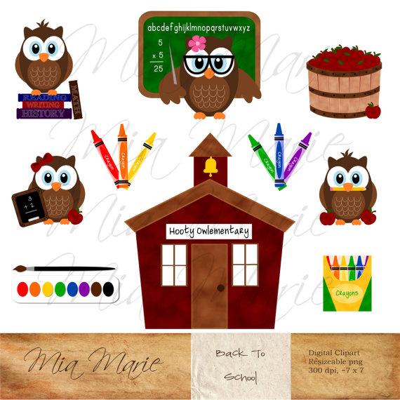 Paint clipart crayon Owl Art clipart clip Digital