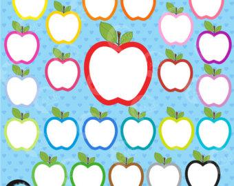 Apple clipart decorative Etsy Clipart Clip Apple Commercial