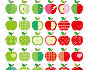 Apple clipart decorative INSTANT Apple Clip art clip