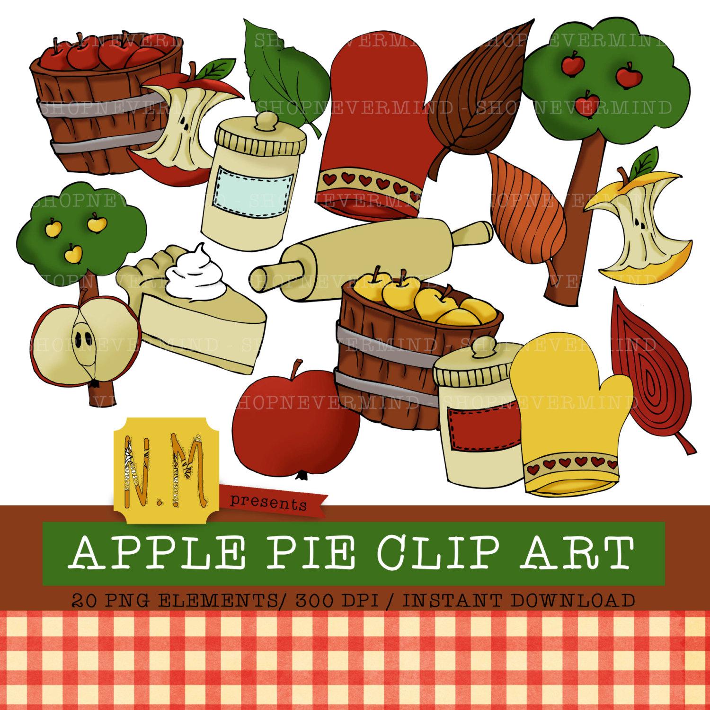 Apple clipart decorative Element set is  digital