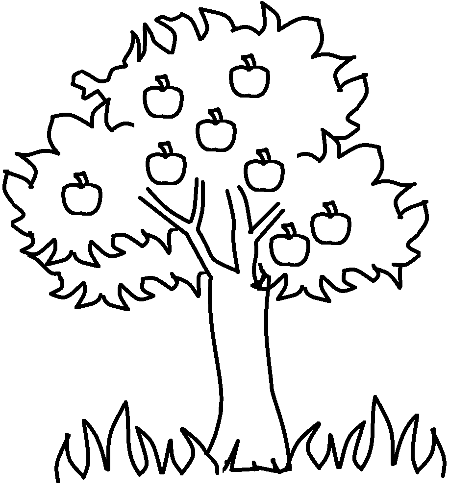 Banyan Tree clipart english Coloring clip white printable white