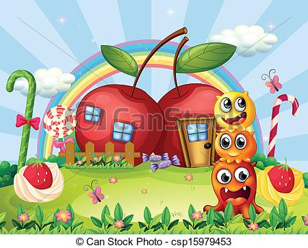 Apple clipart house Monsters of Three the