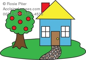 Apple clipart house A Illustration of House Art