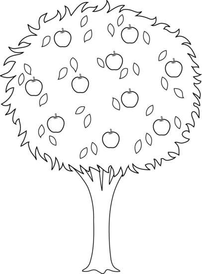 Apple clipart outline png Collection white Apple Apple Tree