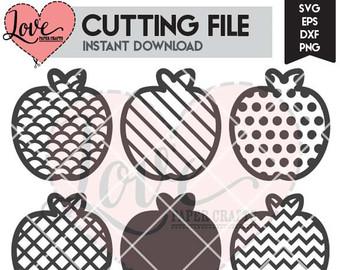 Apple clipart plaid Clip File Polka DXF Cut