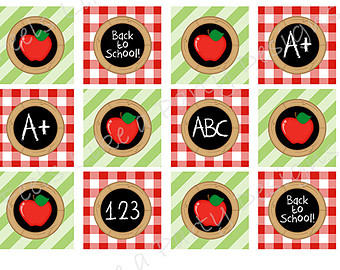 Apple clipart plaid Cupcake Download Cupcake Toppers Instant