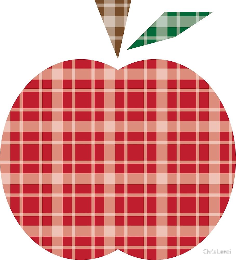 Apple clipart plaid By Apple Chris Redbubble Lenzi