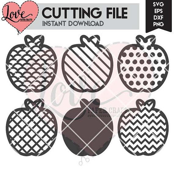 Apple clipart plaid Clip File Polka File DXF