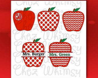 Apple clipart polka dot Polka Out Teacher Polkadot SVG