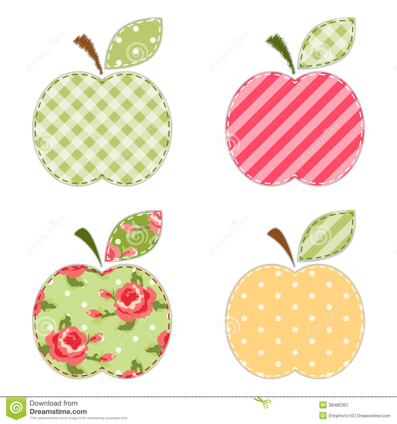 Apple clipart polka dot Collection Stock Apple clipart Image
