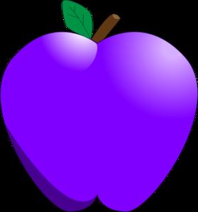 Apple clipart purple Art Clker at Art com