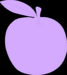 Apple clipart purple Apple vector com Clker clip
