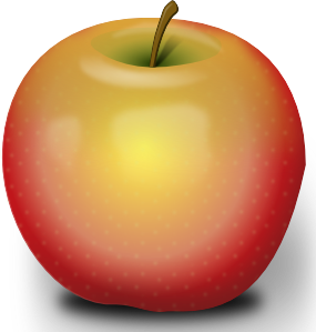 Apple clipart realistic Art clip Red Red Apple