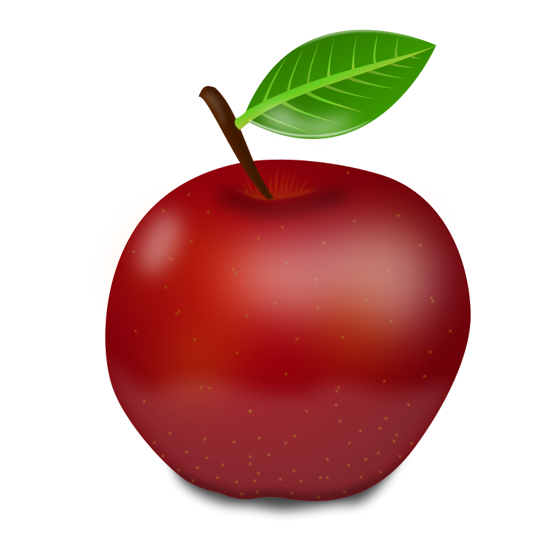 Apple clipart realistic Free Red Clipart Images Panda