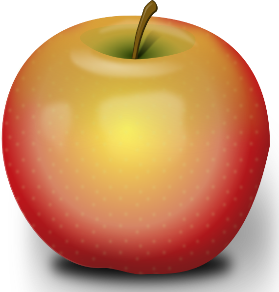 Apple clipart red apple As: vector at com Art