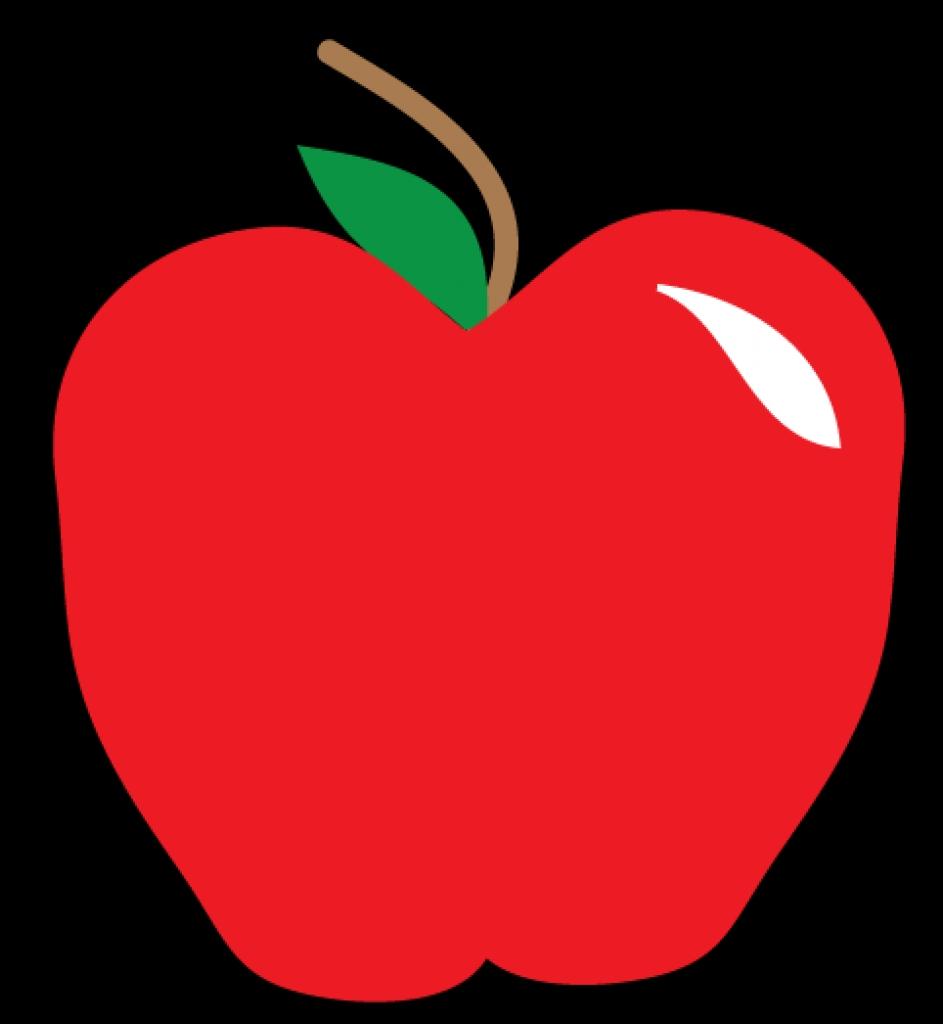 Apple clipart red apple Panda panda 10 art PNG