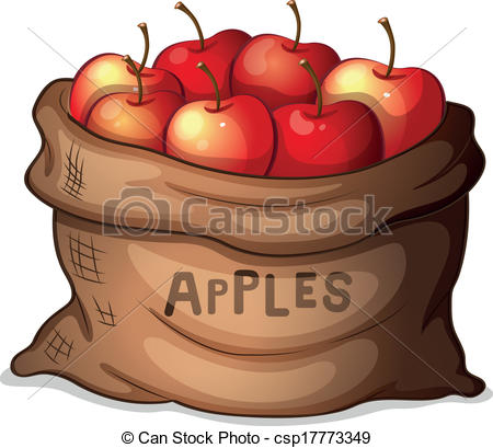 Apple clipart sack Of sack of apples A