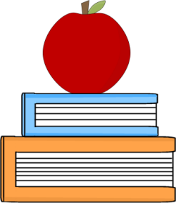 Apple apple clipart school book
