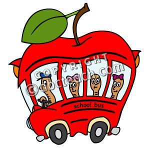 Apple clipart school bus Apple School bus apple school