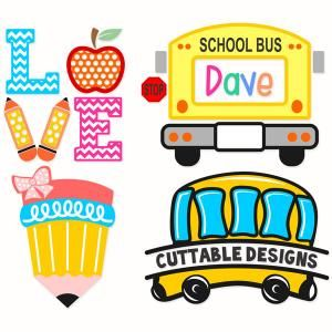 Apple clipart school bus Best wwith and with School