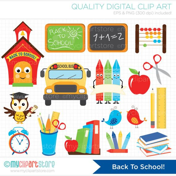 Apple clipart school bus Bus Art The chalk school