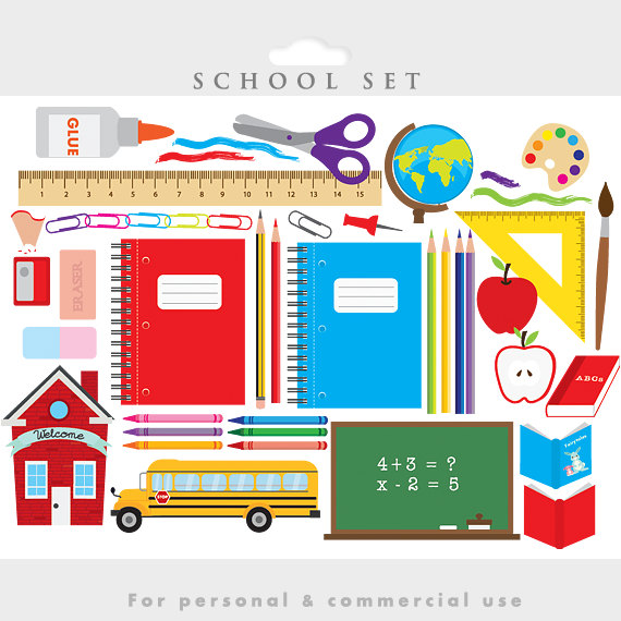 Apple clipart school bus Globe back bus clipart to