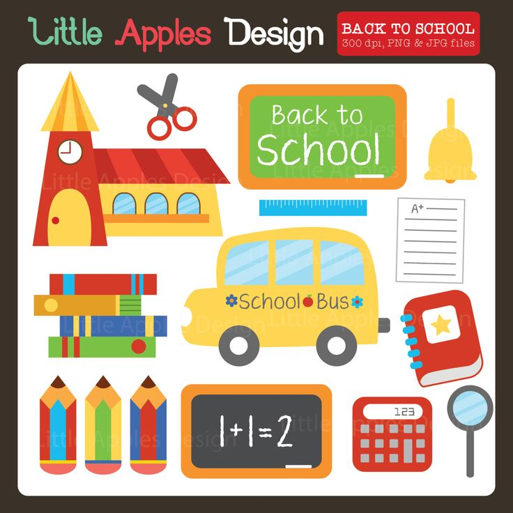 Apple clipart school bus Clipart Back ClipArt clipart /
