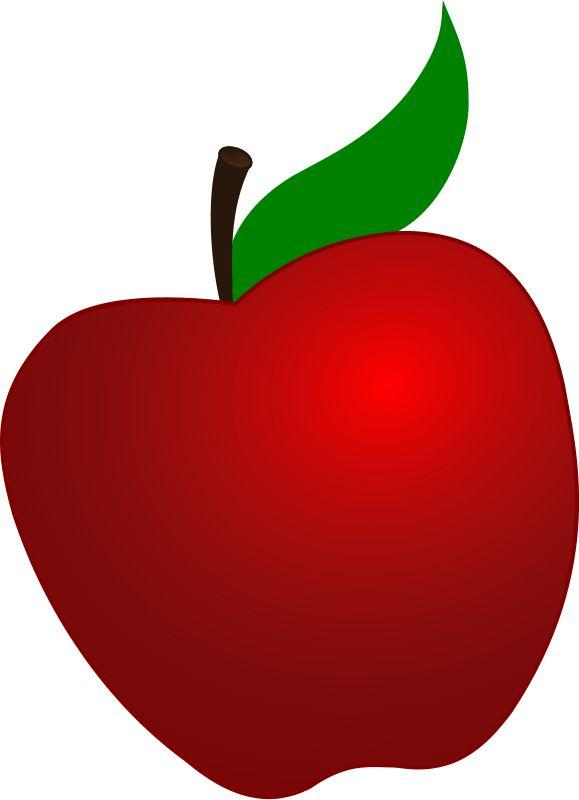 Apple clipart seven De Pinterest Fundo on Branca