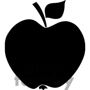 Apple clipart silhouette Panda White Free Clipart Apple