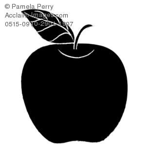 Apple clipart silhouette Art Apple Illustration Illustration Art