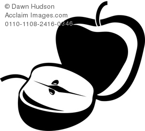 Apple clipart silhouette Whole Apples Apple Silhouette in
