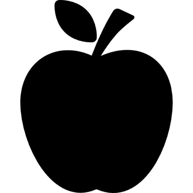 Apple clipart silhouette Silhouette leaf Vectors silhouette Free