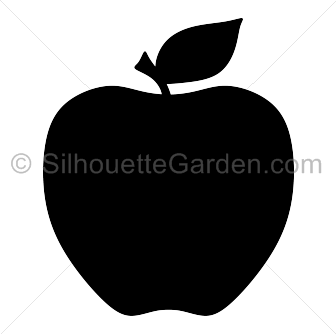 Apple clipart silhouette Silhouette Silhouette Apple