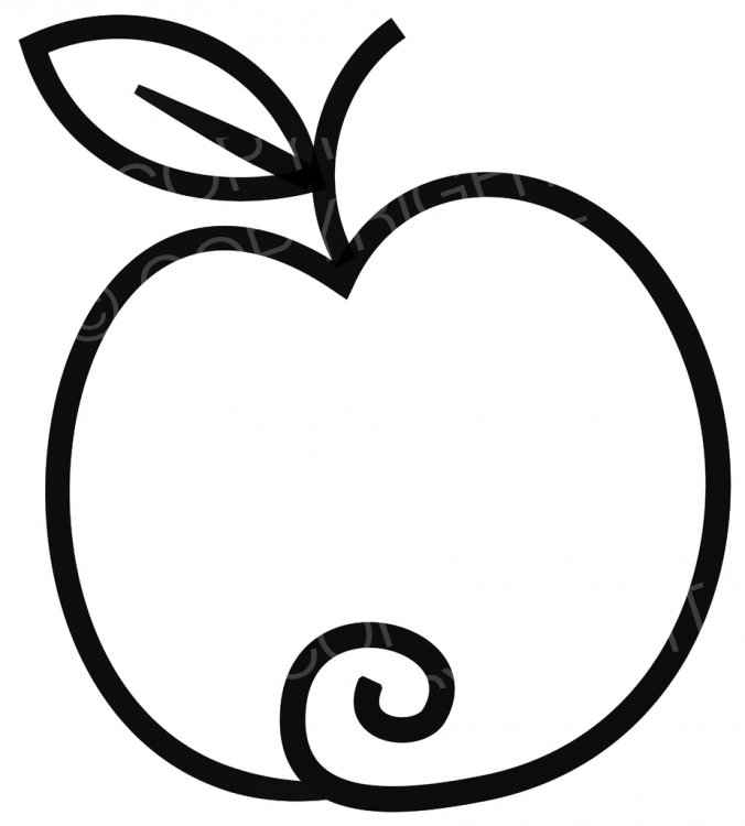 Apple clipart simple – Drawing Prawny Clip Art