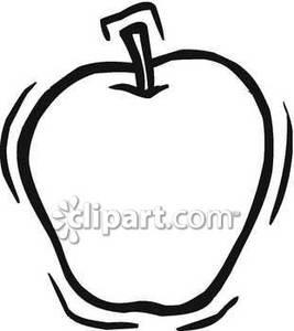 Apple clipart simple Images art: Simple Outline Clipart