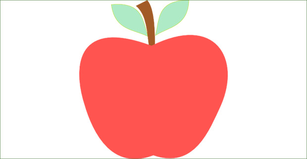 Apple clipart simple Clipart free apples collection apple