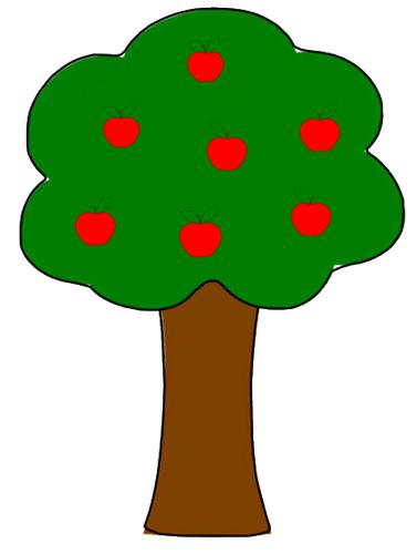 Apple clipart simple Tree Drawing Panda Clipart Apple
