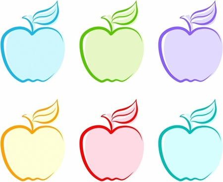 Apple clipart six Fruit clipart vector free free