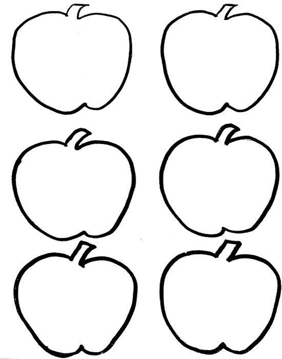 Apple clipart six Pages veggie Coloring  Red