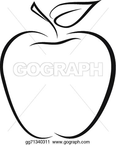 Apple clipart sketch Apple of Drawing outline gg71340311