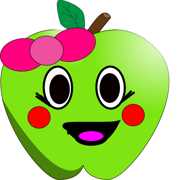 Apple clipart smiley At online image this Clker