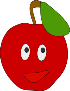 Apple clipart smiley At online Clip Apple Clker