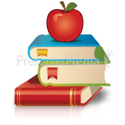 Bobook clipart apple Clipart  Books Clipart PowerPoint
