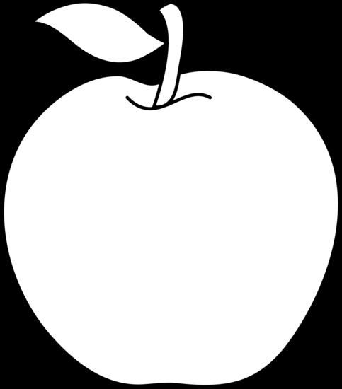 Black & White clipart apple White and 2 art white